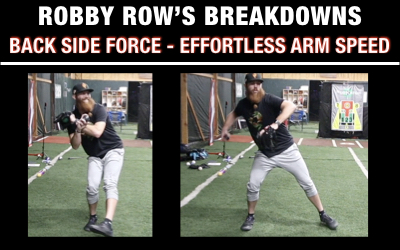 Feel Back Side Force For Effortless Arm Speed
